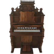 Miniature Organ Handcrafted for Dollhouse