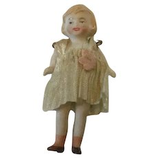 """Hertwig 3"""" Flapper Girl Dollhouse Miniature bisque"""