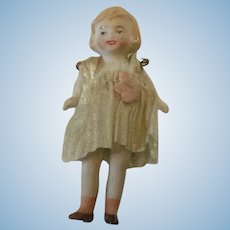 "Hertwig 3"" Flapper Girl Dollhouse Miniature bisque"