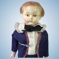 Paper Mache 1840's Boy/Man Doll For your China Head Lady