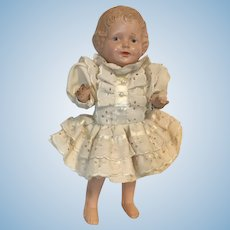 Cute Molded Hair Composition Doll