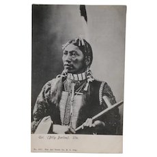 Real Photo American Indian Qui (Billy Barlow) Ute Tribe Postcard