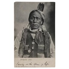 Real Photo American Indian Pe-Vig-Ee Ute Tribe Postcard