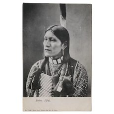 Real Photo American Indian Pedro Ute Tribe Postcard