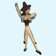 "10"" Klumpe Roldan Nistis Matador Felt Doll Spain"