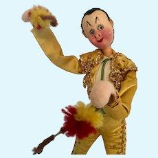"10"" Klumpe Roldan Matador Tagged Felt Doll Spain"