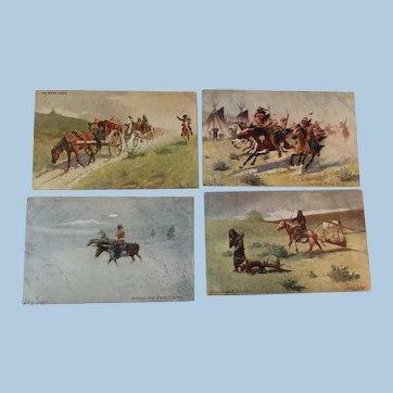 Postcards Old West Artist John Innes Troilene Indian Series