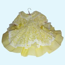 Terri Lee Tagged Party Dress Yellow Shadow Print