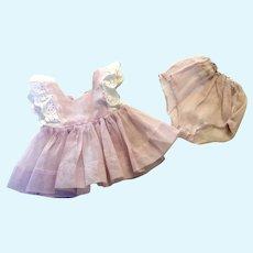Terri Lee Tagged Pink Organdy Dress and Panties