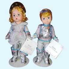 """8"""" Madame Alexander Electra and Electro 1999 Convention Dolls"""
