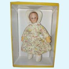 """5"""" Kathe Kruse Dollhouse Size Girl Doll"""