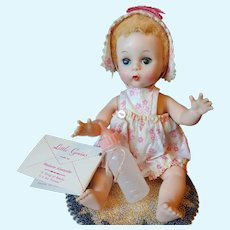 "1957 Madame Alexander 8"" Little Genius Baby all Original"