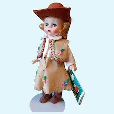 "8"" Madame Alexander Cowgirl #724 iin Box Wendy Alexander-kins"