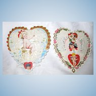 Pair 3-D Pop-Up Whitney Valentine Cards