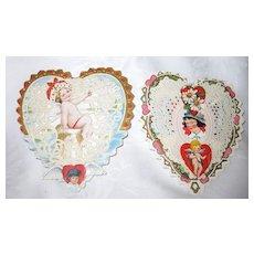 Pair 3-D Pop-Up Whitney Valentine Cards