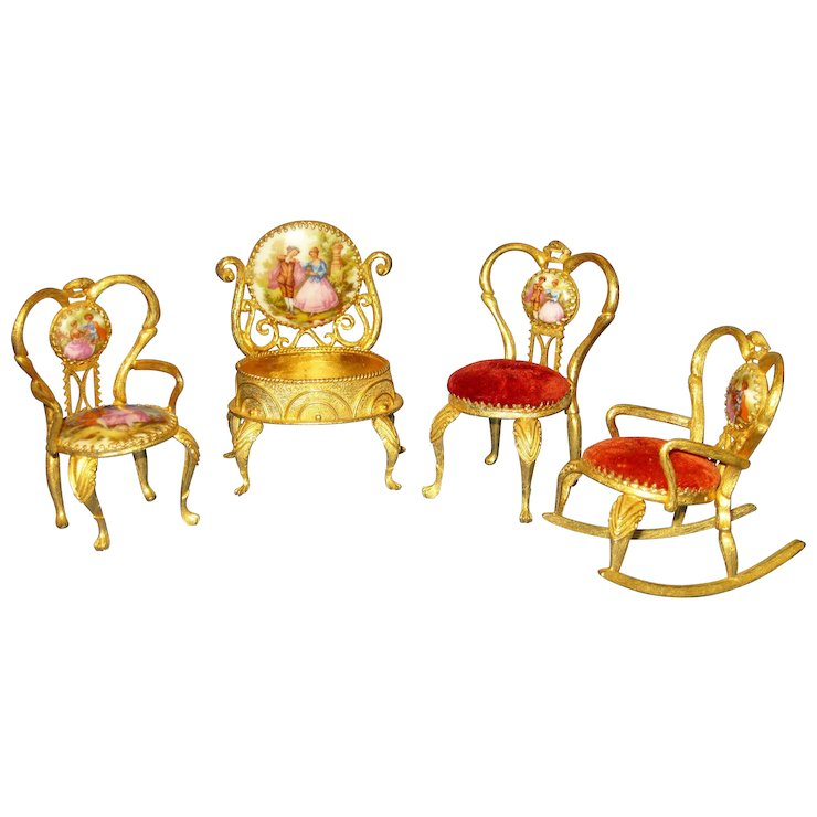 Limoges Miniature Dollhouse Furniture Sold Ruby Lane