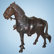 Carved Wood Horse