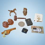 Miniature Dollhouse Desk Items