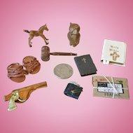 Miniature Dollhouse Desk Items