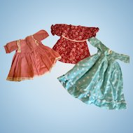 """Trio of Doll Dresses for 18"""""""