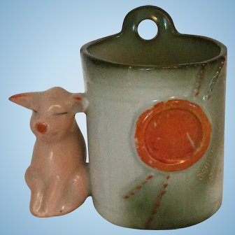 Pink Pigs with Red Seal German Fairing Toothpick Holder