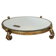 Stylebuilt Vanity Mirror Tray Plateau with Cherubs