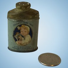 Doll Size Colgate's Baby Talc Salesman Sample