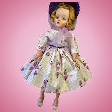 Elise Madame Alexander 1958 Purple Dress & Hat