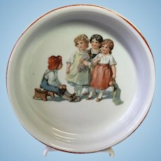 German Child's Baby Feeding Dish Bowl Plate