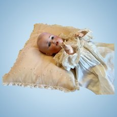 Organdy Embroidered Pillow for your Doll