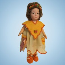 "Lenci Alice 1986 13 1/2"" Felt Doll"