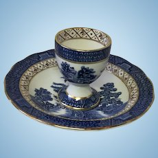 Booths Real Old Willow Egg Cup & Saucer