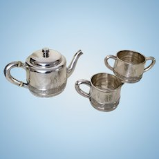 Gorham Silver Soldered Tea Set