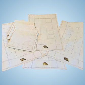 Linen Placemats and Napkins Pulled Thread