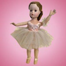 "Madame Alexander 1950's Ballerina Doll 14"""