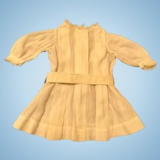 White Dimity Doll Dress with Box Pleats