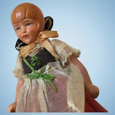 "4"" Bisque German Dollhouse Doll"