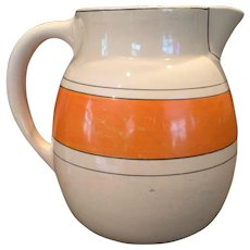 1920s Roseville Utility Pitcher Creamware / Like Juvenile Wear