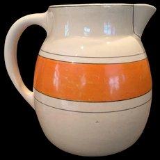 1920s Roseville Utility Pitcher Creamware / Like Juvenile Wear