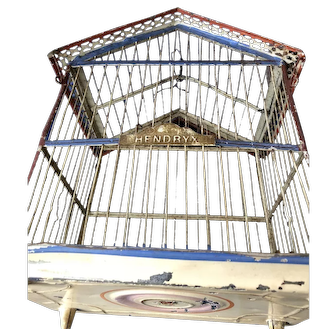 Hendryx Victorian Painted Metal Bird Cage