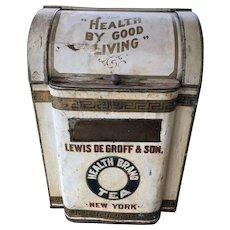 Antique Store Tea Tin Healthy Living Lewis DeGroff