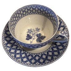 SPODE Blue Room Jumbo Cup and Saucer GERANIUM Blue Room