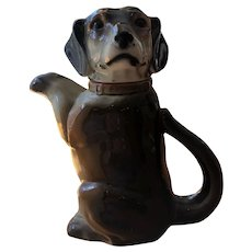 Vintage 1940 ERPHILA Made in Germany Porcelain Dachshund Wiener Dog Teapot 6703B