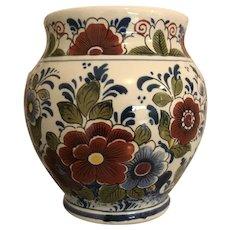 Vintage Oud Delft Polychrome Vase