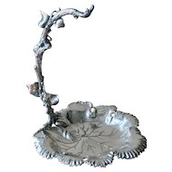 Antique Silver Plate Grape Stand