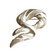 Vintage 1960's Monet Mod Swirl Brooch in Goldtone
