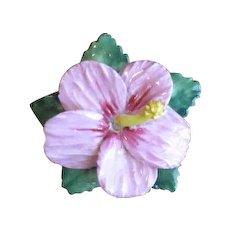 Vintage Artone Figural Pink Fairy Lily Bone China Brooch
