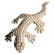 Vintage 900 Mexico Silver Lizard Pin