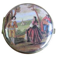 Vintage Pastoral Scene Double Sided Mirror Compact
