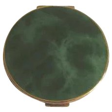 Vintage 1970's Green Marbled Stratton Compact
